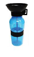 Дорожная поилка для собак Aqua Dog 537 мл Blue n-121, КОД: 1638366