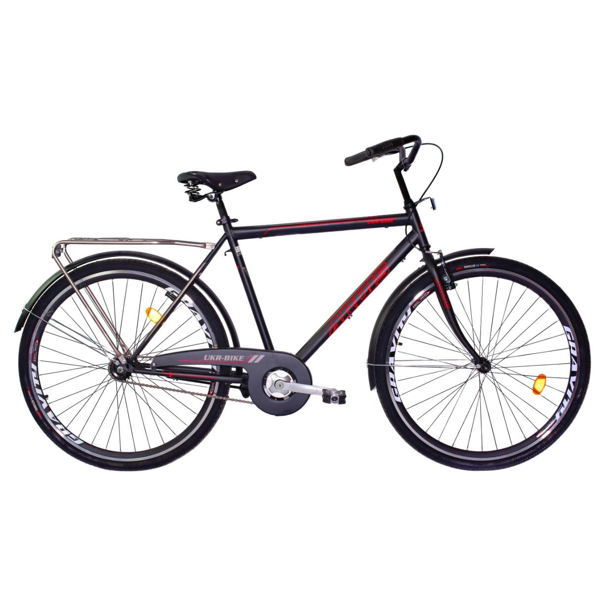 """Міський велосипед Ardis UKR-BIKE 28"""" з алюмінієвими ободами і багажником, Чорний"""