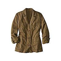 Куртка Eddie Bauer Womens Jacket Linen BROWN XL Светло-коричневый 7114375BR, КОД: 1164752