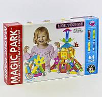 Детский магнитный конструктор Magic Park QF 8617 E 64 детали Разноцветный 2-QF8617E-72508, КОД: 1077852