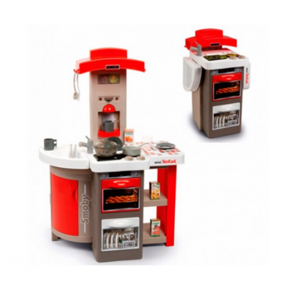 Smoby Раскладывающаяся интерактивная игровая кухня шеф повар красная 312203 Chief mini Tefal Kitchen