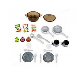 Smoby Раскладывающаяся интерактивная игровая кухня шеф повар красная 312203 Chief mini Tefal Kitchen, фото 6