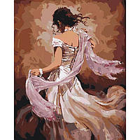 Картина по номерам Идейка Танцовщица фламенко 40х50 см KHO2682, КОД: 1319028