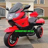 Дитячий триколісний електромотоцикл Tilly T-7224 червоний. Мотоцикл для дітей, фото 7