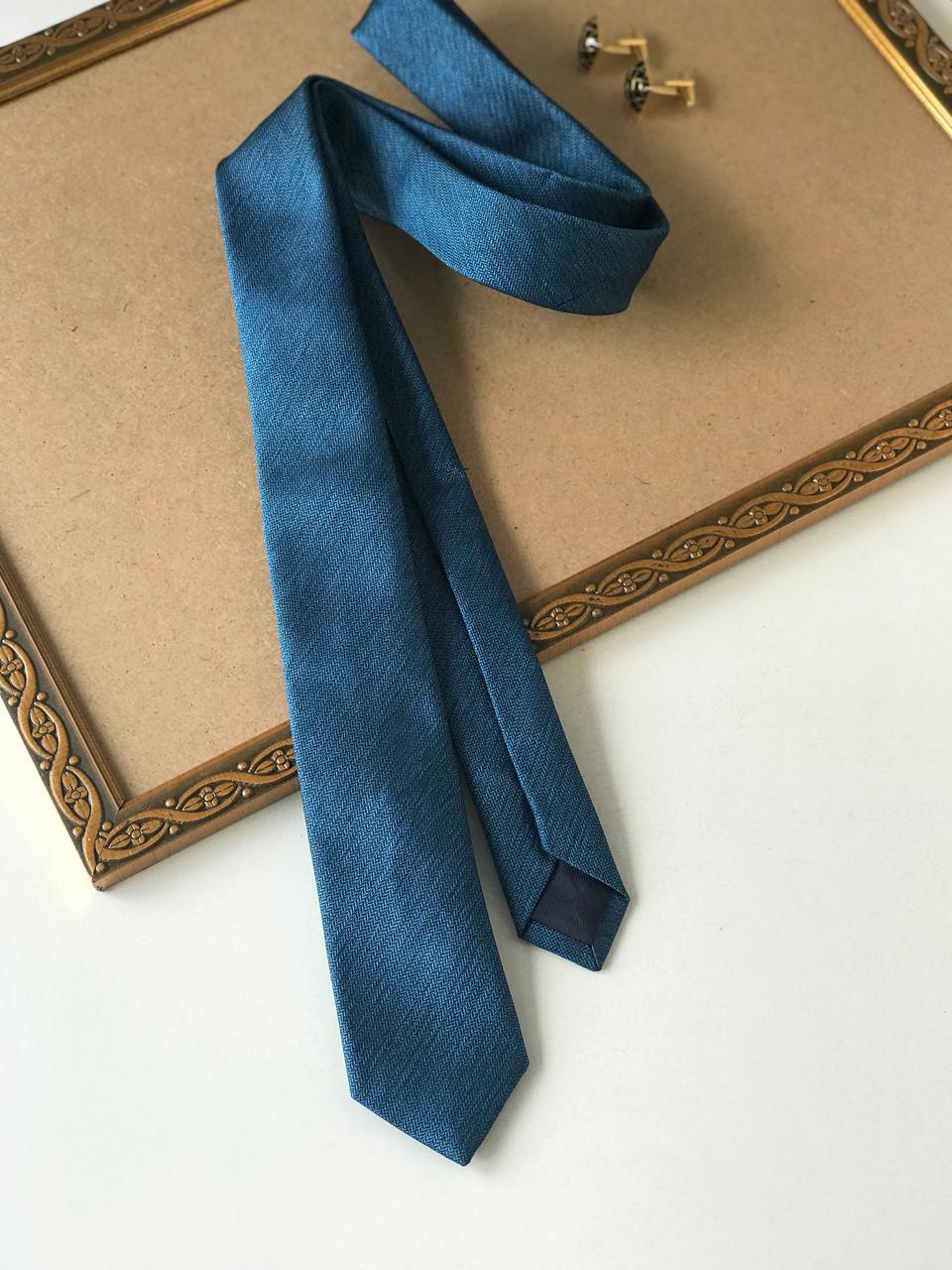 """Вузький краватку """"Fly"""", темно-бірюзовий колір, в подарунковій коробці. M&S."""