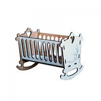 Кровать-люлька деревянная BigEcoToys Белый TOY-58867, КОД: 1279457