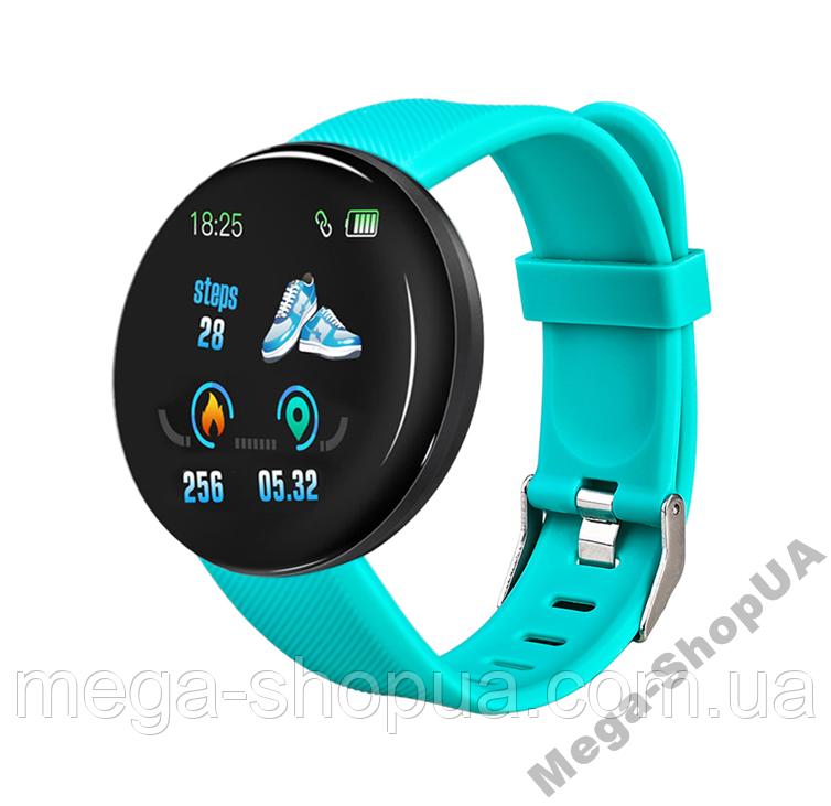 Смарт-часы Smart Watch DKD18 Turquoise, спорт часы, умные часы, наручные часы, фитнес браслет, фитнес трекер