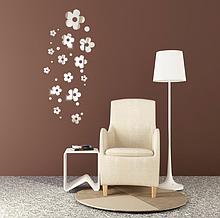Набор акриловых зеркал цветков ромашки «Flowers» серебро