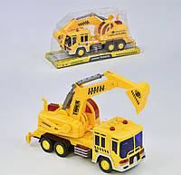 Инерционный Экскаватор Small Toys 6299 со светом и звуком Желтый 2-69542, КОД: 1248925