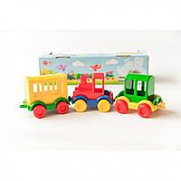 Паровозик TIGRES Kid cars 3 шт. 39260, КОД: 1717474