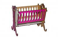 Кровать-люлька Toysi Бело-розовая TOY-48637, КОД: 1279459