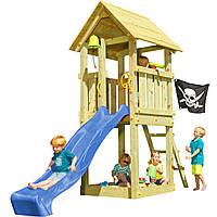 Детская игровая площадка KBT Blue Rabbit KIOSK домик с горкой Синий, КОД: 1429326