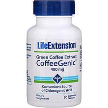"Экстракт зеленого кофе Life Extension ""CoffeeGenic Green Coffee Extract"" 400 мг (90 капсул)"