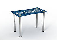 Стол Sentenzo Океан 900x650x750 мм Бело-синий 236631374, КОД: 1556440