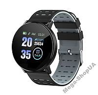 Смарт-часы Smart Watch GF119 Black&Gray, спорт часы, умные часы, наручные часы, фитнес браслет, фитнес трекер