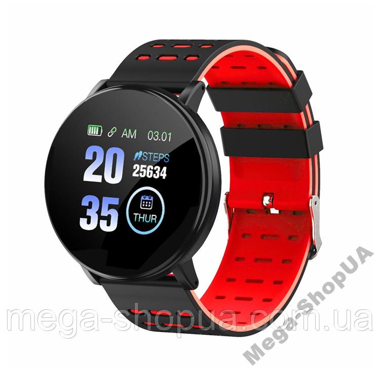 Смарт-часы Smart Watch GF119 Black&Red, спорт часы, умные часы, наручные часы, фитнес браслет, фитнес трекер