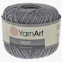Пряжа Violet 50гр - 282м (5326 Темно-серый) YarnArt