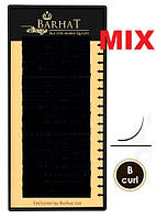 Ресницы BARHAT silk изгиб B. MIX. чёрные