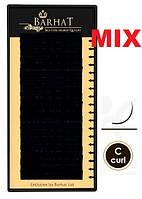 Ресницы BARHAT silk изгиб C. MIX. чёрные