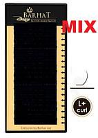 Ресницы BARHAT silk изгиб L+. MIX. чёрные