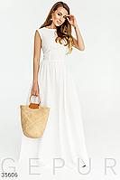 Довге ляне плаття, женская одежда, летняя одежда женская, сарафан женский