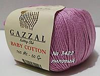 Пряжа для вязания хлопок/акрил BABY COTTON GAZZAL № 3422 - лиловый