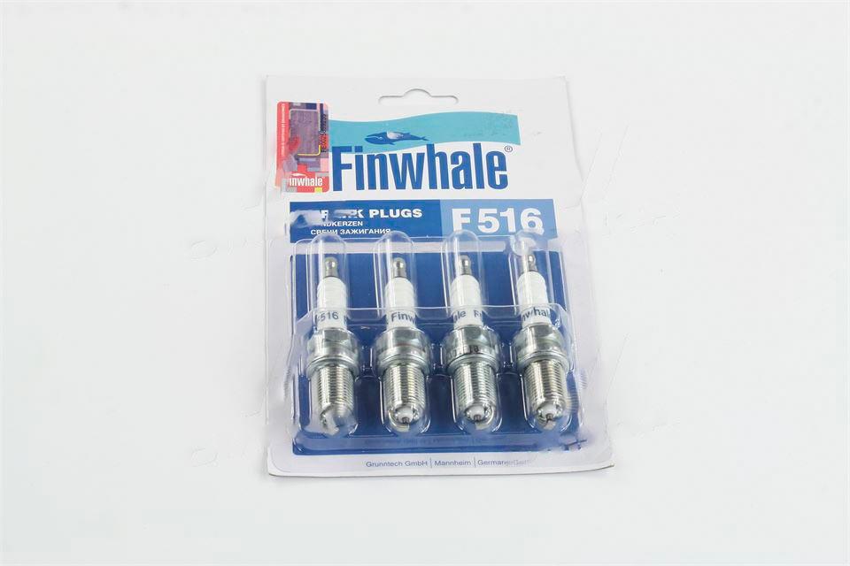 Свеча зажигания ВАЗ 2110-2112, 1117-1119, 2170-2172 16 клапаный (комплект 4 шт) (производство  FINWHALE)  F516