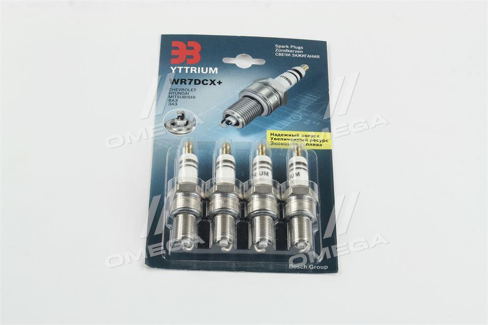 Свеча зажигания YTTRIUM WR7DCX+(комплект 4 шт. блистер) (производство  Энгельс)  WR7DCX+