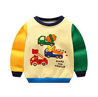 Теплая детская толстовка на мальчика флисовая кофта свитшот худи от 0.5 до 6 лет