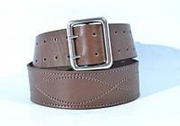 Ремень портупейный кожаный мужской коричневый 130см, 125