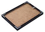 Рамка 40х40 из алюминия - Чёрный глянец 6 мм - со стеклом, фото 3