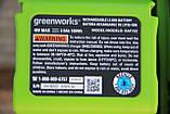 Аккумуляторная цепная пила  Greenworks 40 В  GD40CS15 ( CSF403 ) в комплекте с ЗУ и  двумя АКБ. 2,5 А, фото 8