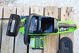 Аккумуляторная цепная пила  Greenworks 40 В  GD40CS15 ( CSF403 ) в комплекте с ЗУ и  двумя АКБ. 2,5 А, фото 9