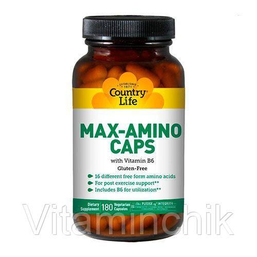 Витамины Макс Амино с витамином В6 180 капсул ТМ Кантри Лайф / Country Life