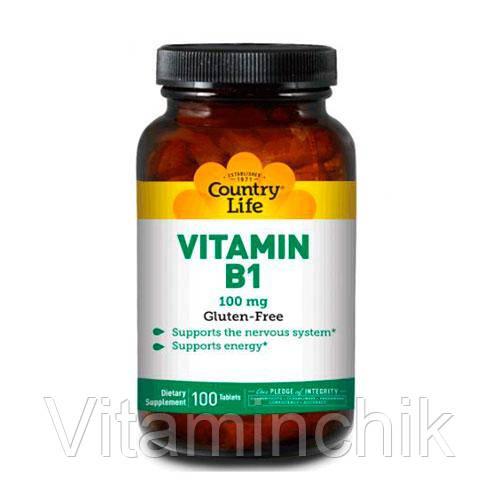 Country Life Витамин В-1 100 мг 100 таблеток