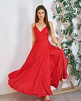 Летнее платье на запах цвет: красный, размер: M, S, XL, L