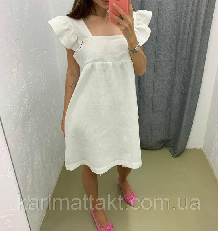 Летнее платье льняное