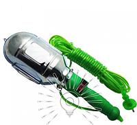 Гаражная переноска  Е27 10м зеленая с выключателем