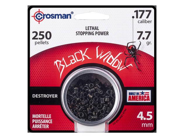 Пули для пневматического оружия Crosman Black Widow, 0.50 гр, 250 шт, фото 2