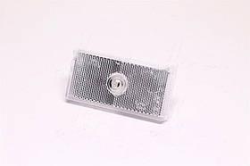 Фонарь габарит. передний со световозращ., белый, без лампы, пластм. корпус, 100x50x65 (Руслан-Компле  ФГС-106