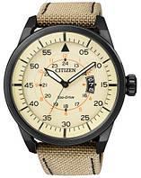 Мужские часы Citizen AW1365-19P Aviator Black Nylon