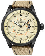 Мужские часы Citizen AW1365-19P Aviator Black Nylon