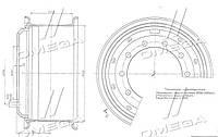 Диск колесный 20х8, 5 КАМАЗ ЕВРО-2 в сборе (бренд  КамАЗ)  6520-3101012