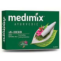 Аюрведическое мыло Medimix Медимикс 18 трав, 125 г., Medimix Ayurvedic 18-Herb Soap Cholayil Ltd, Аюрведа