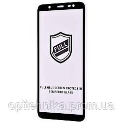 Защитное стекло Full Glue HQ Samsung Galaxy J8 2018 (J810F) без упаковки black