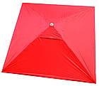 Зонт квадратный с ветровым клапаном, Красный, 3 х 3 м., фото 2