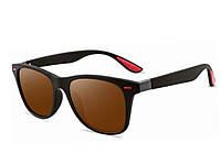 Стильные очки солнцезащитные UV400 коричневые  Коричневый