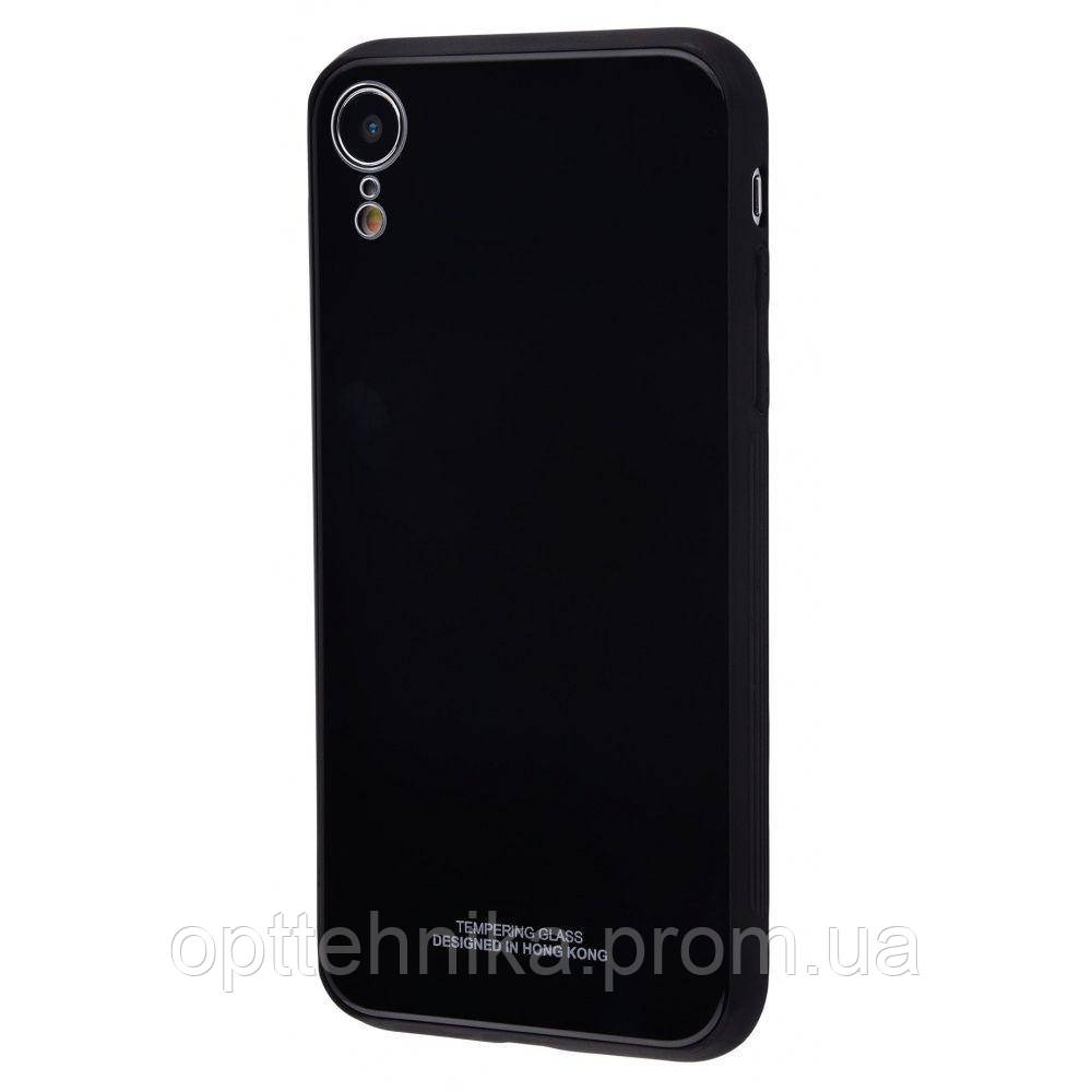 Tempering glass case iPhone Xr black