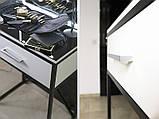 Столик для візажиста і перукаря з ящиком і підсвічуванням, фото 7