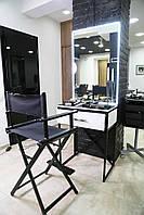 Столик для визажиста и парикмахера с ящиком и подсветкой